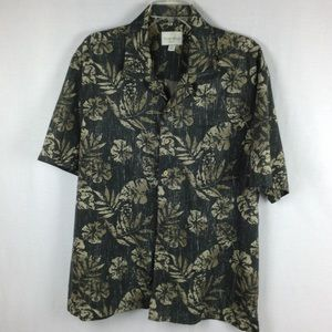 Trader Bay Size M Short Sleeve Shirt Button Tan